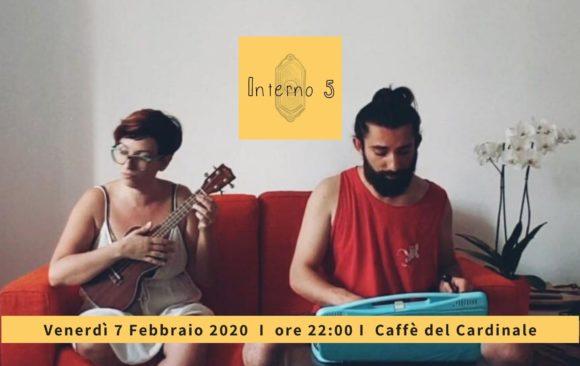 Dopocena in Musica: Interno 5 in concerto 7 Febbraio 2020 a Cori Giulianello