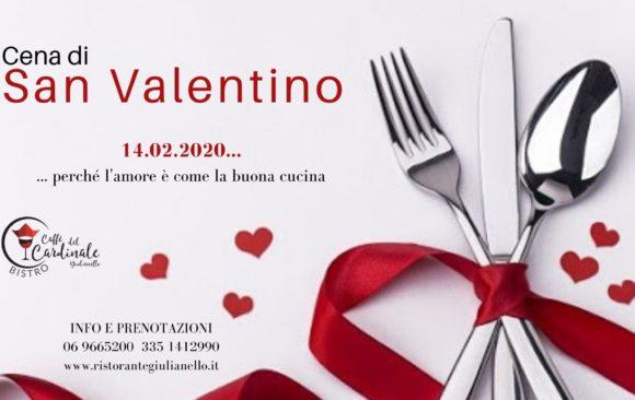 Cena di San Valentino 14 FEBBRAIO 2020