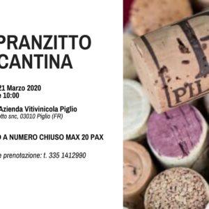Pranzitto presso la Cantina Pileum a Piglio.
